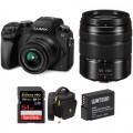 Panasonic Lumix DMC-G7 Mirrorless Micro Four Thirds Digital Camera with 14-42mm and 45-150mm Lenses Kit (Black)