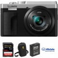 Panasonic Lumix DCZS80 Digital Camera Deluxe Kit (Silver)