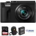Panasonic Lumix DCZS80 Digital Camera Deluxe Kit (Black)