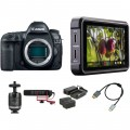 Canon EOS 5D Mark IV DSLR Camera with Canon Log and Monitor Kit