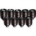 Angenieux Optimo Prime Gold Lens Set (18, 21, 28, 32, 40, 50, 75, 100 & 135mm)