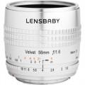 Lensbaby Velvet 56mm f/1.6 Lens for Canon RF (Silver)