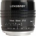 Lensbaby Velvet 56mm f/1.6 Lens for Nikon F (Black)