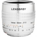 Lensbaby Velvet 56mm f/1.6 Lens for FUJIFILM X (Silver) V