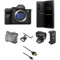 Sony Alpha a7S III Mirrorless Digital Camera with Sony Xperia PRO 5G Smartphone Streaming Kit