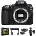 Canon EOS 90D DSLR Camera Body HDR Filmmaker Kit