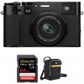 FUJIFILM X100V Digital Camera with Accessories Kit (Black)