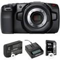 Blackmagic Design Pocket Cinema Camera 4K Kit with 2 x Batteries, Dual Charger & 2 x SD Cards